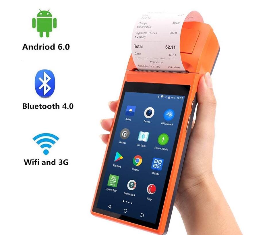 Sunmi V1s Android 6.0 Pos Terminali Saplı Pda 3g Wifi