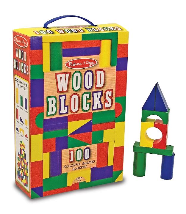 Ahşap Blok Seti - 100 Parça