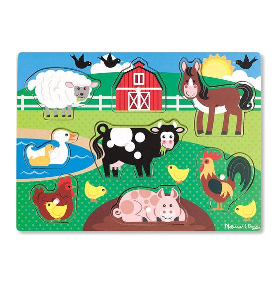 Ahşap Tutmalı Yapboz-Çiftlik (Yeni)