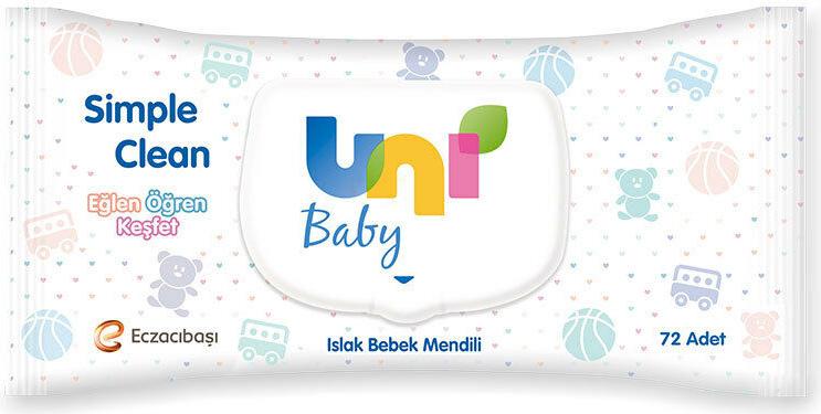 UNI BABY SIMPLE CLEAN ISLAK MENDIL