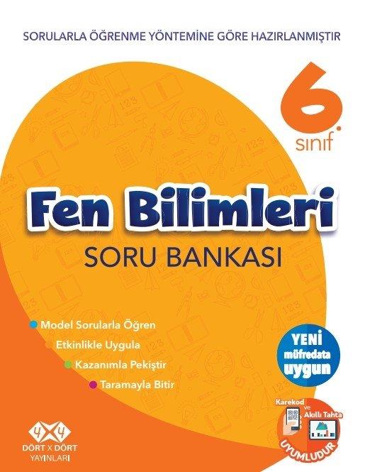 4X4 6.SINIF FEN BİLİMLERİ SORU BANKASI YENİ 2018