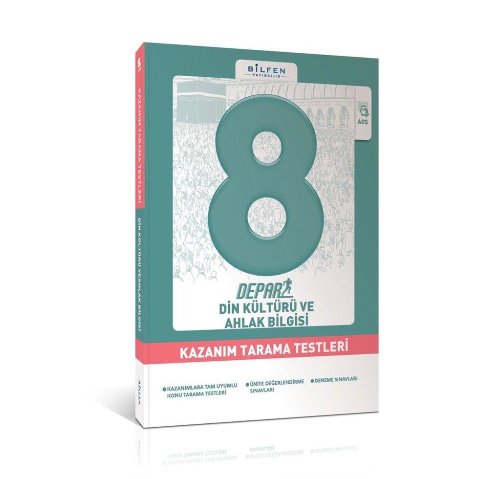 BİLFEN 8.SINIF DİN KÜLTÜRÜ VE AHLAK BİLGİSİ DEPAR KAZANIM TARAMA TESTLERİ YENİ 2018