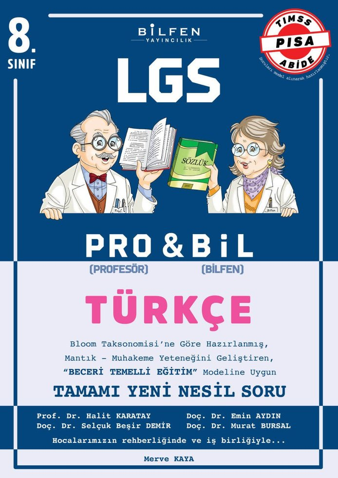 BİLFEN 8.SINIF TÜRKÇE PRO & BİL SORU BANKASI