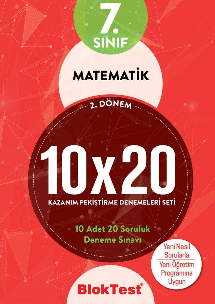 BLOKTEST 7. SINIF MATEMATİK 10X20 KAZ. DENEMELERİ 2.DÖNEM YENİ