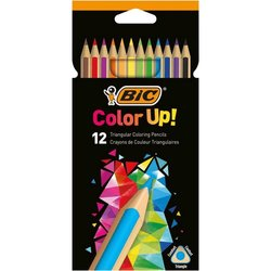 BİC COLOR UP ÜÇGEN 12'Lİ KURU BOYA KALEMİ