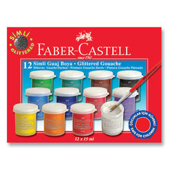FABER CASTELL 12'Lİ SİMLİ GUAJ BOYA