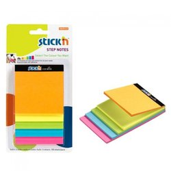 HOPAX STICKN STEP NOTES YAPIŞ. 5'Lİ NEON NOT KAĞT. 150YP