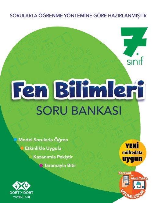 4X4 7.SINIF FEN BİLİMLERİ SORU BANKASI YENİ 2018