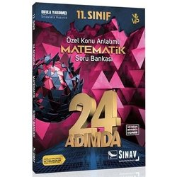 SINAV 11.SINIF MATEMATİK 24 ADIMDA SORU BANKASI YENİ