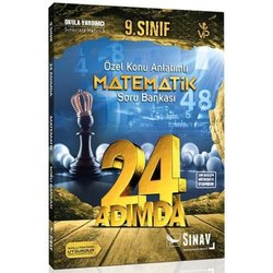 SINAV 9.SINIF MATEMATİK 24 ADIMDA SORU BANKASI YENİ