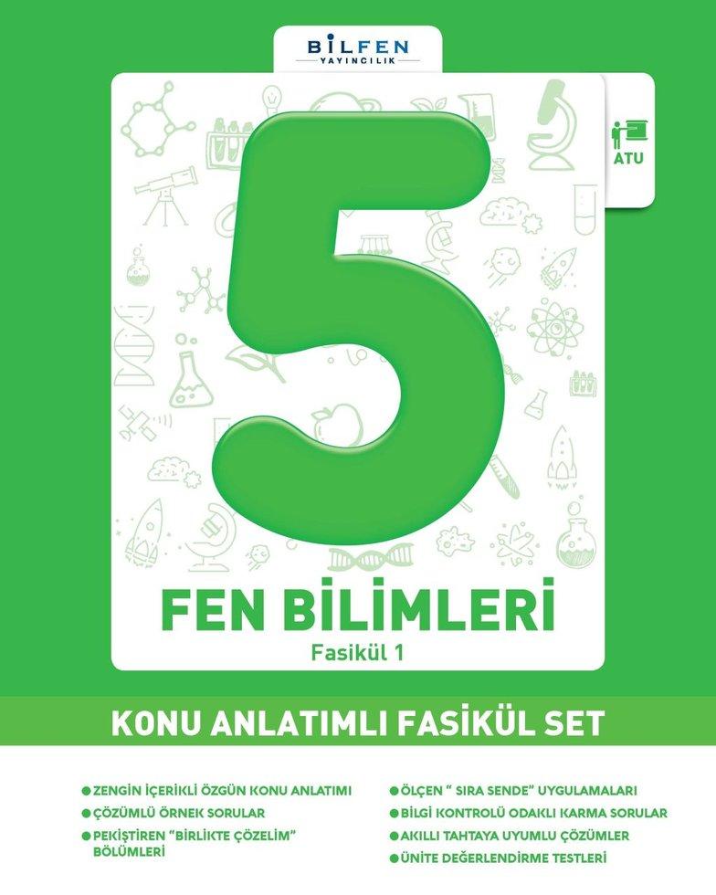 BİLFEN 5.SINIF FEN BİLİMLERİ KONU ANLATIMLI FASİKÜL SET YENİ 2019