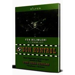BİLFEN 8.SINIF FEN BİLİMLERİ SON KONTROL DENEME SINAVI YENİ ÜRÜN