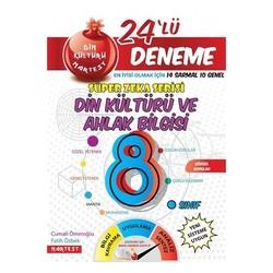 NARTEST 8.SINIF DİN KÜLTÜRÜ 24 DENEME SINAVI 14 SARMAL+10 GENEL