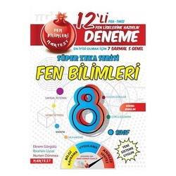 NARTEST 8.SINIF FEN BİLİMLERİ 12 DENEME SINAVI 7 SARMAL+5 GENEL