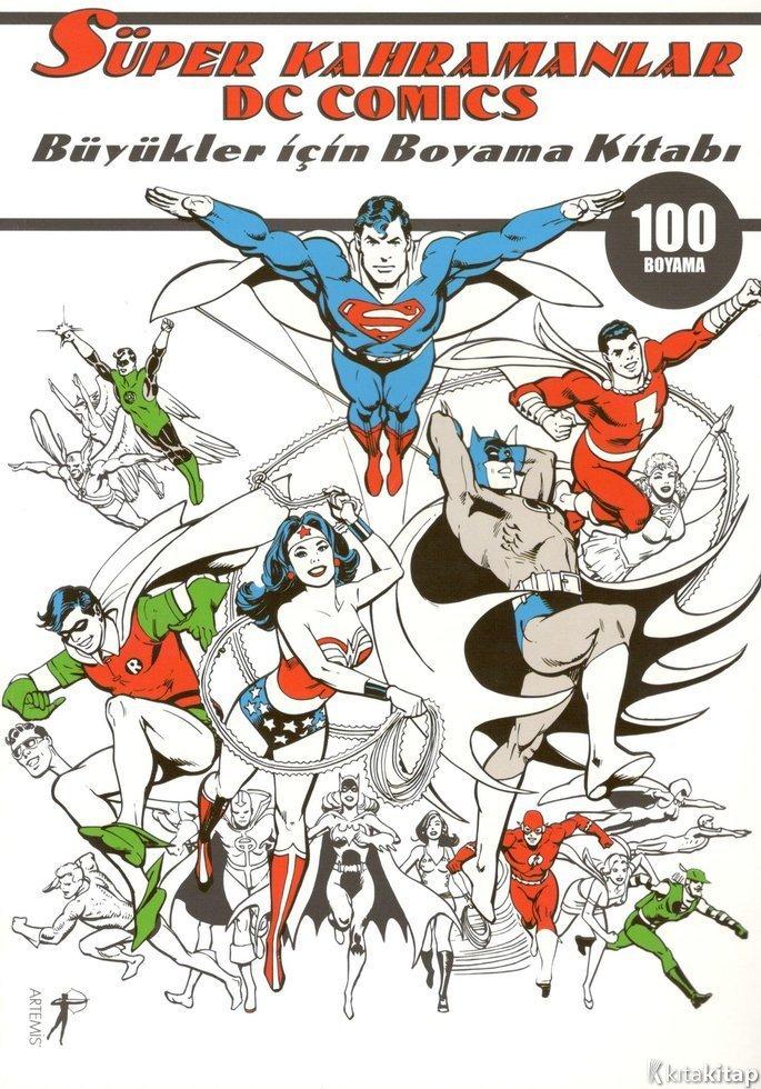 Süper Kahramanlar Büyükler Için Boyama Kitabı Artemis P
