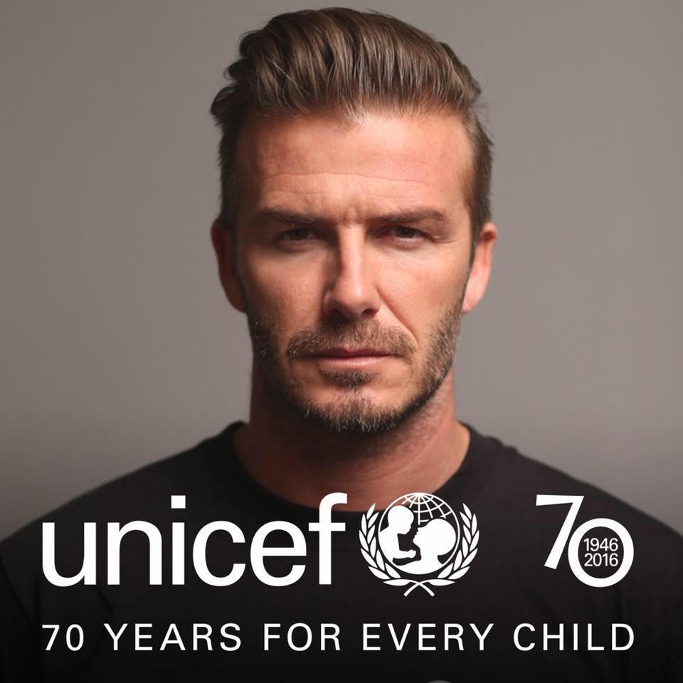 David Beckham, ambassadeur Unicef