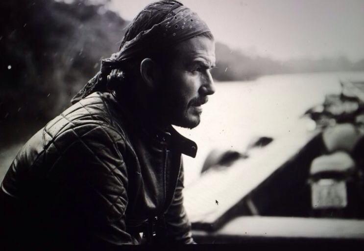 David Beckham styliste et mannequin