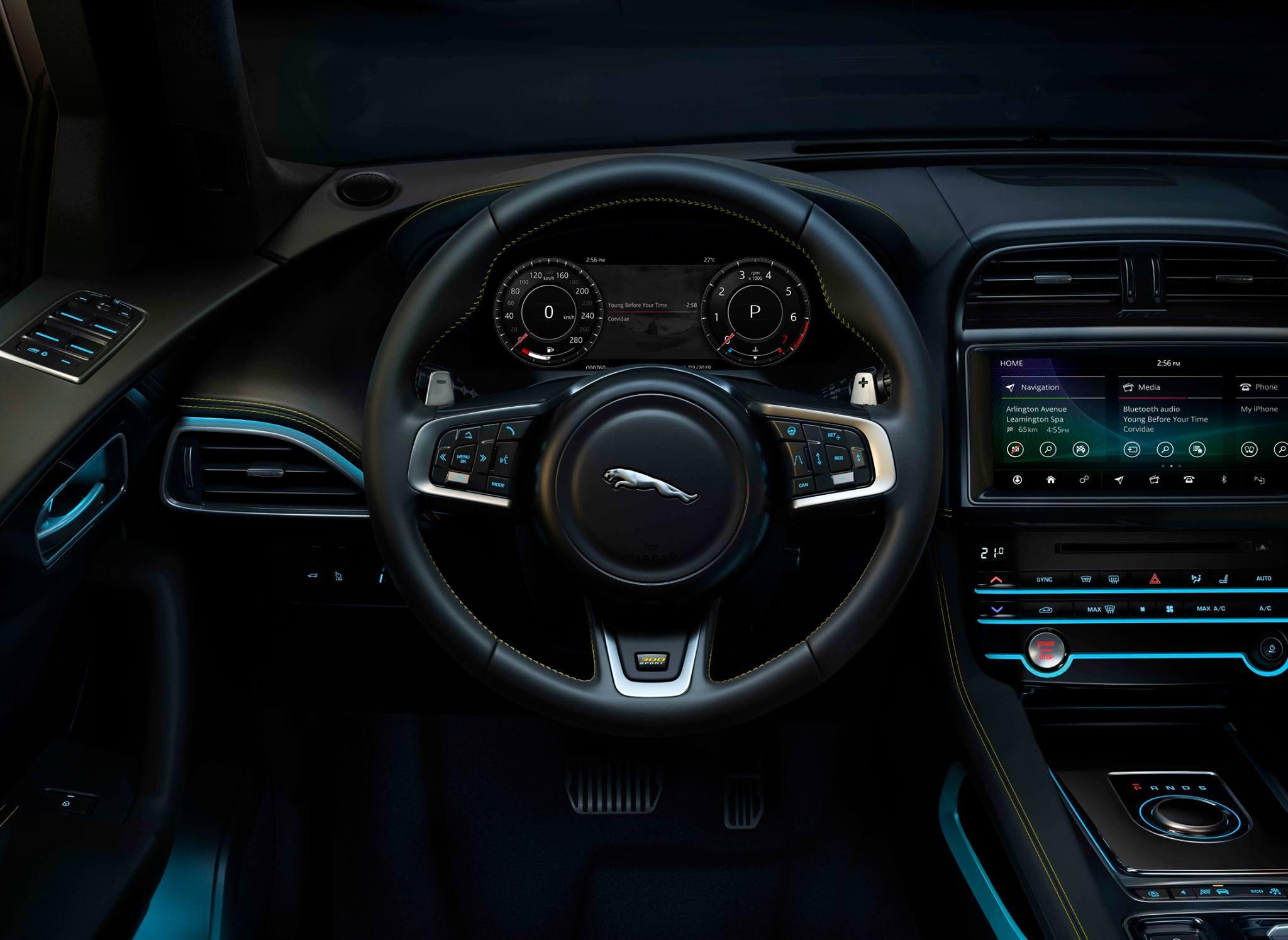 Intérieur d'une voiture Jaguar