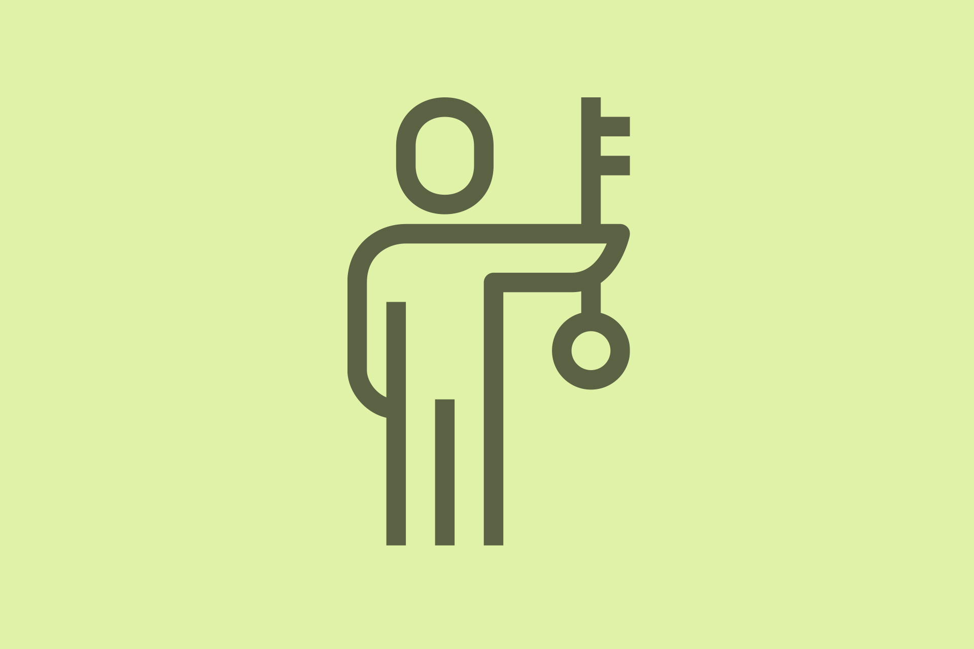 Decorative icon man key