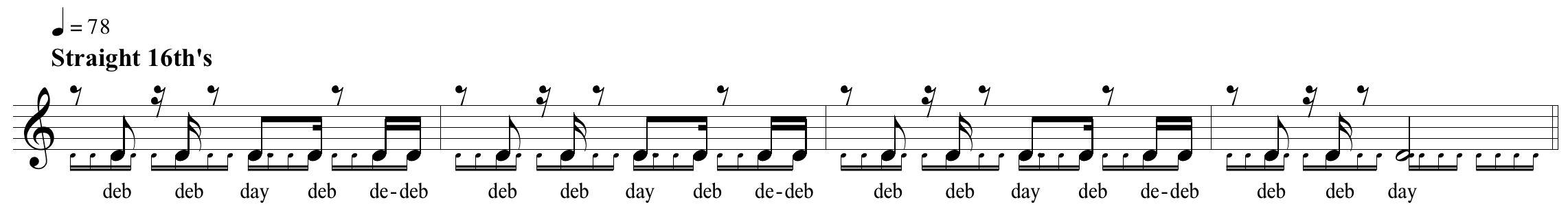 subdivisies ritme 2