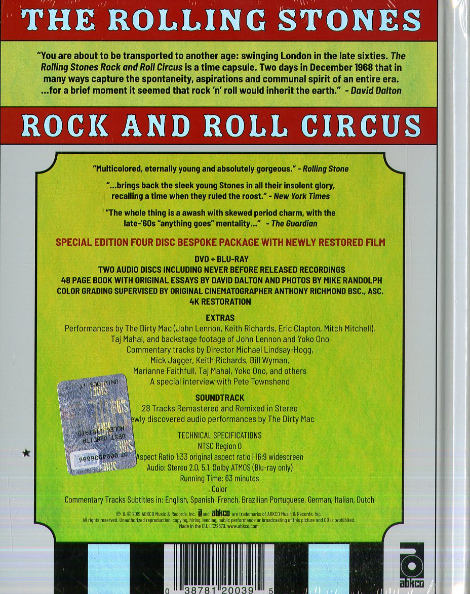 Rock And Roll Circus (Dvd + B Ray + 2 Cd + Libro 44 Pagine