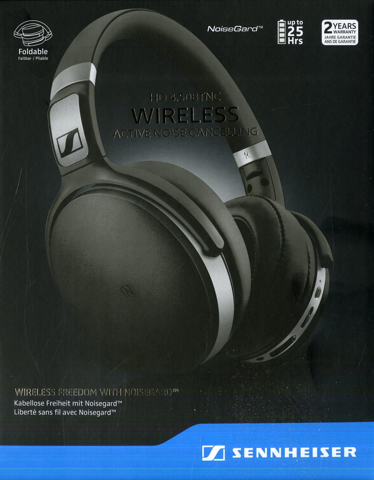 Cuffia (Hd4.50Btnc) Stereo Wireless Bluetooth Sennheiser (Nero E ... fd37b358caf6