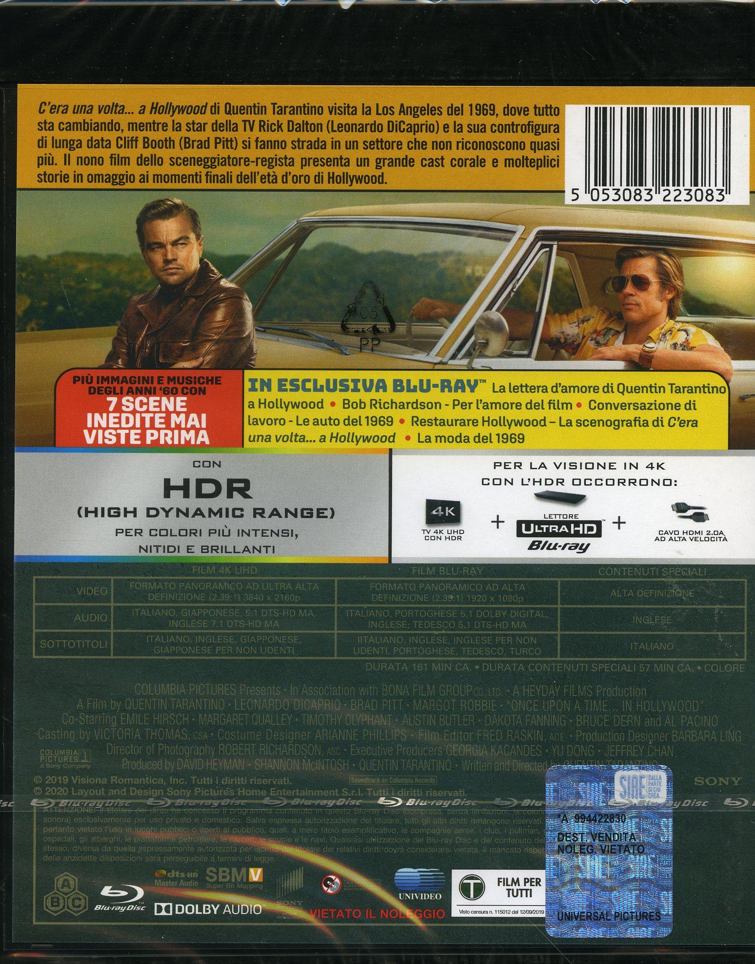 C'Era Una Volta A Hollywood (4K+Br)