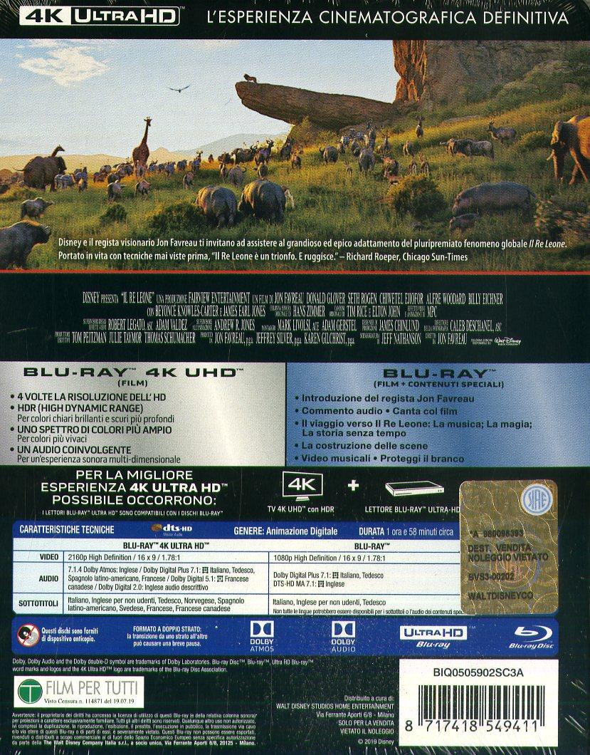 Il Re Leone (Live Action) Steelbook (4K+Br)
