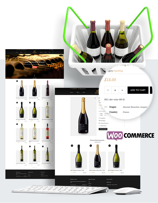 Diwine - Winery & Wine Shop, Vineyard WordPress Theme - 12