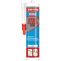 Evo-Stik Stay Clear Sanitary Silicone