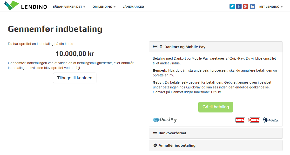 Screenshot - betaling