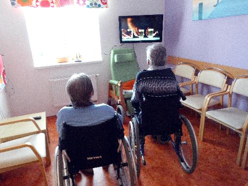 Televizor pro uživatele domova se zvláštním režimem