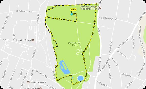 Dog Jog Maidstone Route
