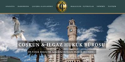 Çoşkun & Ilgaz Hukuk Bürosu  websitesi