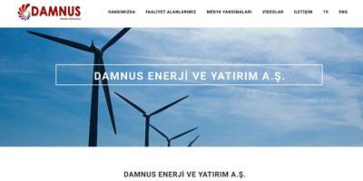 Damnus Enerji ve Yatırım A.Ş  websitesi