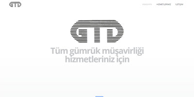 GTD Gümrük Müşavirliği websitesi