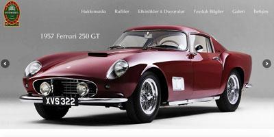 Klasik Otomobil Kulübü websitesi