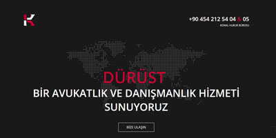 Konal Hukuk websitesi