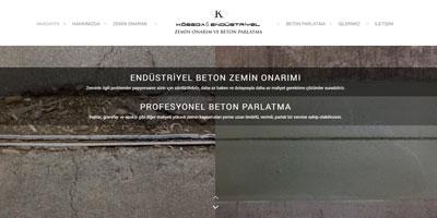 Kösedağ Endüstriyel websitesi