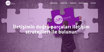 LMN Works İletişim Danışmanlık  websitesi