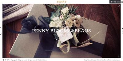 Penny Blooms & Beans websitesi
