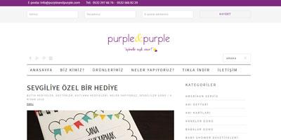 Purple & Purple websitesi