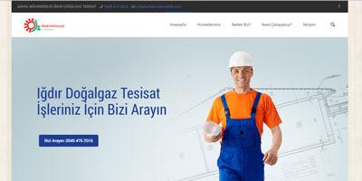 Şafak Mühendislik websitesi