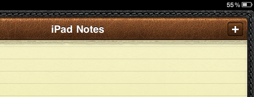 iPad Notes screenshot
