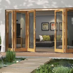 Folding/Sliding JELD-WEN Hardwood Patio Doors