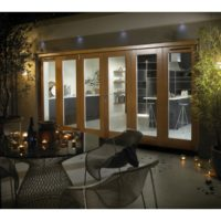 DoorsDirect2u JELD-WEN 4800MM Canberra Oak Folding Patio Doors