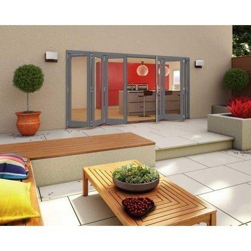 DoorsDirect2u JELD-WEN 4200MM Darwin Hardwood Folding Patio Doors