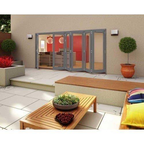 DoorsDirect2u JELD-WEN 4800MM Darwin Hardwood Folding Patio Doors