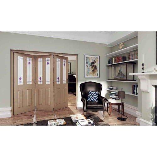 DoorsDirect2u JELD-WEN 2 Door Mackintosh 2 Lite Glazed Roomfold Doorset