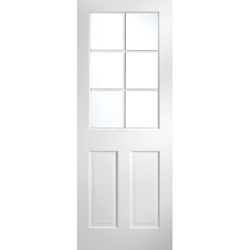 DoorsDirect2u JELD-WEN Avesta 6 Lite Primed Clear Glazed